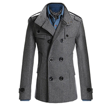 Fashion Men Double Breasted Winter Slim Warm Jacket Stylish Trench Coat Outwear(China)