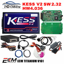KESS V2 SW2.32 HW4.036 OBD2 Manager Tuning Kits No Tokens Limited Works Cars Add OBD Function KESS V2 2.32 K-Suite DHL FREE(China)