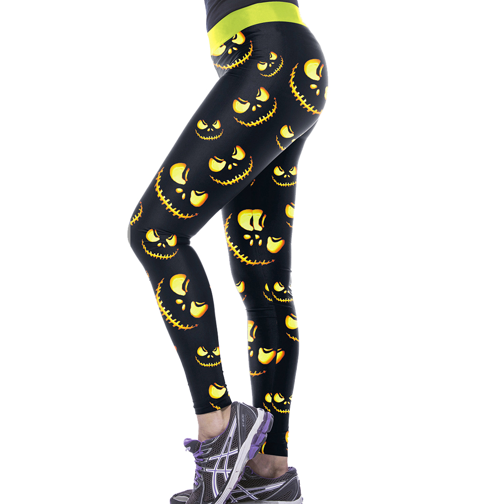 NADANBAO Halloween Print Fitness Leggins 25