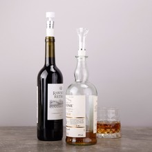 2 Set Vacuum Wine Poure Stainless Steel Cocktail Drink Mixer Measuring Cup Jigger Measurer Set Bar Tools Wine Pourers