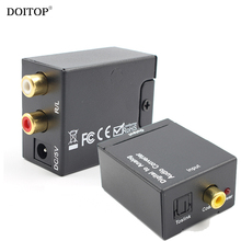 DOITOP Digital to Analog Audio Converter Digital Video Adapter Optic SPDIF Coaxial RCA Toslink Signal to Analog Audio Converter(China)