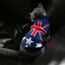 Auntumn Winter Knitwear Sweater for Small Cat Pet Blue Dog Cat Sweater Pet Cat Jumper Coat For Small Puppy Dogs Cat Dog Clothes