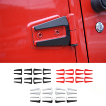 MOPAI Car Exterior Door Hinge Covers Trim Fir For Jeep Wrangler 2007 up Door Bezel Protector Trim Decorative Car Styling(China)