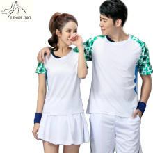 1 pcs Quick Dry Badminton Shirts Couple Model Women Men Breathable Badminton Uniforms Tennis shirt Sport Jerseys 3XL(China)