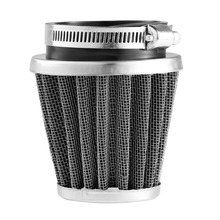 Universal Aluminum 35/39/42/44/48/50/52/54/60mm Motorcycle Mushroom Head Air Filter Clamp On Air Filter Cleaner Drop Shipping(China)