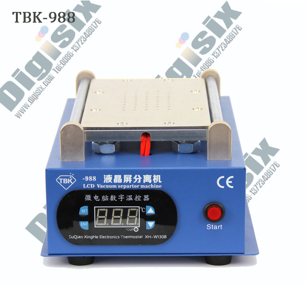 Newest 7 inch Lcd Separating TBK-988 With Built-in Vacuum Pump Touch Screen Separator Machine  For Mobile Phone Repairing<br>