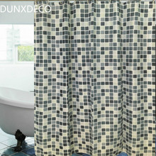 DUNXDECO Shower Curtain Bathroom Waterproof Cortinas Modern Grey Mosaic Polyester Fabric Rideau Home Decoration(China)