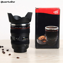 400ML Creative Cups and Mugs Gift Hot sales 24-105mm 3rd Camera Lens Cup 1:1 Stainless Steel Coffee Tea Cup(China)