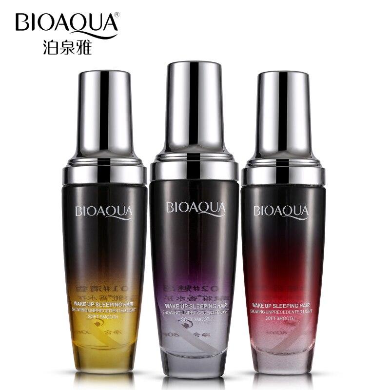 BIOAQUA Brand Perfume Hair Care Essential Oil Hair Scalp Treatment Pure Argan Moisturizer Repair Hair Serum For Dry Hair Types