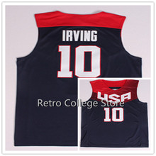 #10 kyrie irving #5 Kevin Durant #8 Paul George Team USA Basketball Jersey Retro College Throwback Men's Throwback Embroidery(China)