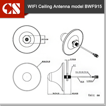 8dBi wifi celling antenna W/SMA male,3m, long range outdoor wifi antenna house wifi antenna 1pc free shipping(China)