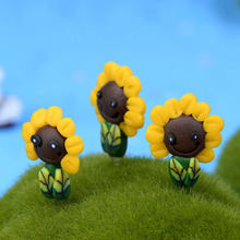 Plant Sunflower Flower Miniature Fairy Garden Home Houses Decoration Mini Craft Micro Landscaping Decor DIY Accessories