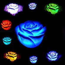 Romantic Rose-shaped LED Colorful Lantern Rose Night Light Novelty Lamp & 50PCS/Lot DHL/UPS/FEDEX/EMS Free Shipping