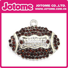 American Football Fashion Wholesale Cheap Hot Sale High Quality 35mm Coffe Rhinestone Necklace Pendant DHL Free Shipping