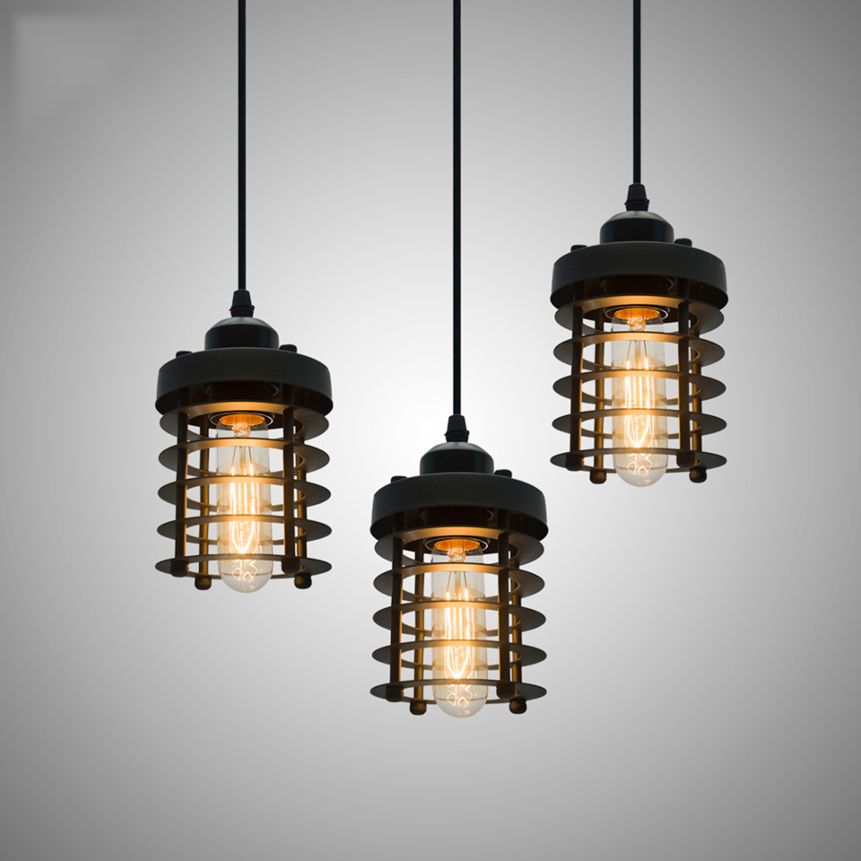 OYGROUP Vintage Pendant Lighting Industrial Iron Pendant Lamp Retro Hanging Lights Art Decoration Cafe Bar Living Room #OY16P18<br>