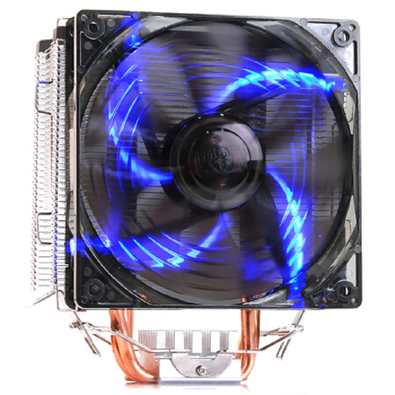 Pccooler X5 5 Heat pipe 120mm fan led 4pin PWM for Intel 775 1151 1155 1150 1156 AMD AM4 AM3 CPU cooler heat sink fan radiator<br>