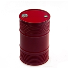 1Pcs Red CNC Aluminum  Oil Drum Tank for Tamiya RC Tractor Container Truck Free Shipping