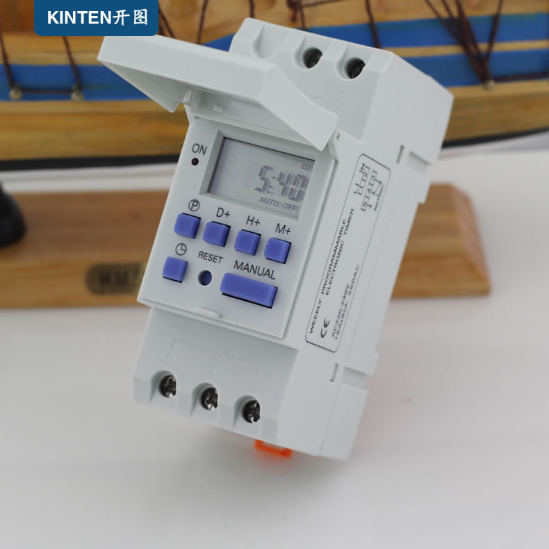 Free Shipping DIN RAIL DIGITAL PROGRAMMABLE TIMER SWITCH 220VAC 16A  high power countdown timer<br><br>Aliexpress