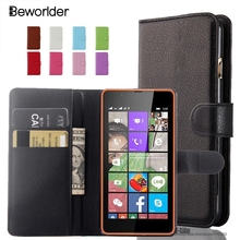 Beworlder Luxe Wallet PU Leather Case Voor Nokia Lumia Microsoft Lumia 435 520 530 535 550 625 630 640 650 730 Case(China)