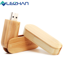 Rotated Wooden customized multicolorful USB flash drive u disk USB2.0 flash drive  4G 8GB 16GB 32GB 64GB