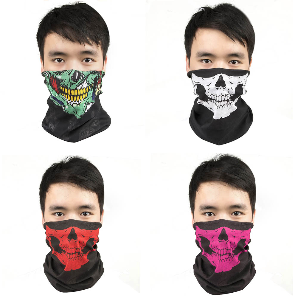 Halloween Scary Mask Festival Skull Masks Skeleton Outdoor Motorcycle Bicycle Multi Masks Scarf Half Face Mask Cap Neck Ghost(China (Mainland))