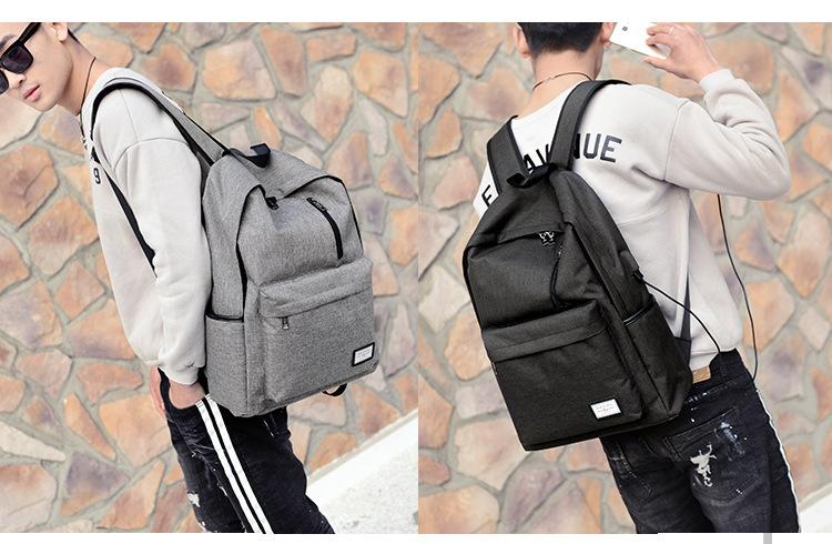 حقيبة مدرسية سوداء USB 3