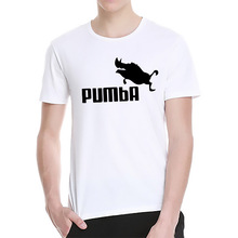 Available The Walking Dad Fathers Day Gift Men's Funny T-Shirt T Shirt Men Short Sleeve Pumba Cotton Novelty Top Tee(China)