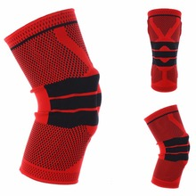 LumiParty 3D Weaving Protective Compression Knee Sleeve Knee Brace Support for Basketball Football Sports Activities(China)