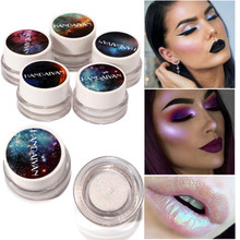 New 5 Colors Makeup Glitter 1Box Multifunctional Highlight Eye Shadow Powder High Light Eyeshadow Cosmetic Glitter Powder Pretty(China)