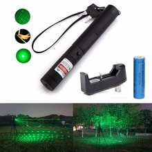 XpertMatic Military 532nm 5mw 303 Green Laser verde Pen Lazer Pointer Burning Beam Burn Match with 18650 Battery and Charger