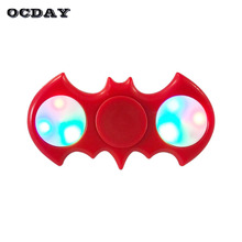 Buy OCDAY LED Light Fidget Spinner Plastic EDC Bat Hand Spinner Autism ADHD Focus Anti Stress Finger Spiner Toys Gift Funny for $3.13 in AliExpress store