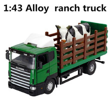 Engineering vehicles, 1:43 alloy Ranch truck,Ranch car,Transporter,Toy Vehicles,best gift ,free shipping