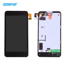 100% Tested Black For Nokia Lumia 630 635 LCD Display Touch Screen Digitizer Assembly +Bezel Frame, Free Shipping+Tracking No.(China)