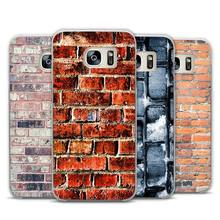 Brick pattern Transparent Phone Case Cover for Samsung Galaxy S3 S4 S5 S6 S7 Edge Plus Mini