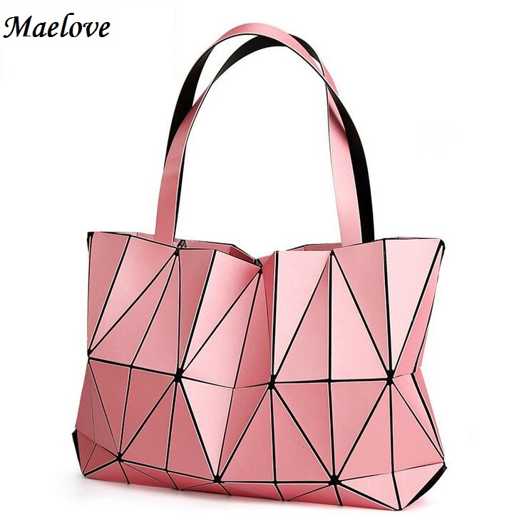 Maelove NEW bao bao Women Geometry Luminous Bags Matt Color Folding Handbags Diamond shape Tote baobao bag <br>