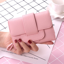2017 New Luxury Soft Leather Women Hasp Wallet Fashion Tri-Folds Clutch For Girls Coin Purse Card Holders Female Blue Money Bag(China)