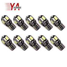 10pcs T10 8 SMD 5630 LED Canbus Error Free Auto Parking Lights W5W 194 8SMD 5730 LED Car Wedge Tail Side Bulbs Reading Lamps 10X(China)