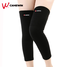 1 Pair Long Knee Pad Calf Leg Support Protect Kneepad CAMEWIN High Elasticity Relieve Arthritis Sports Outdoor Knee Guard Warm(China)