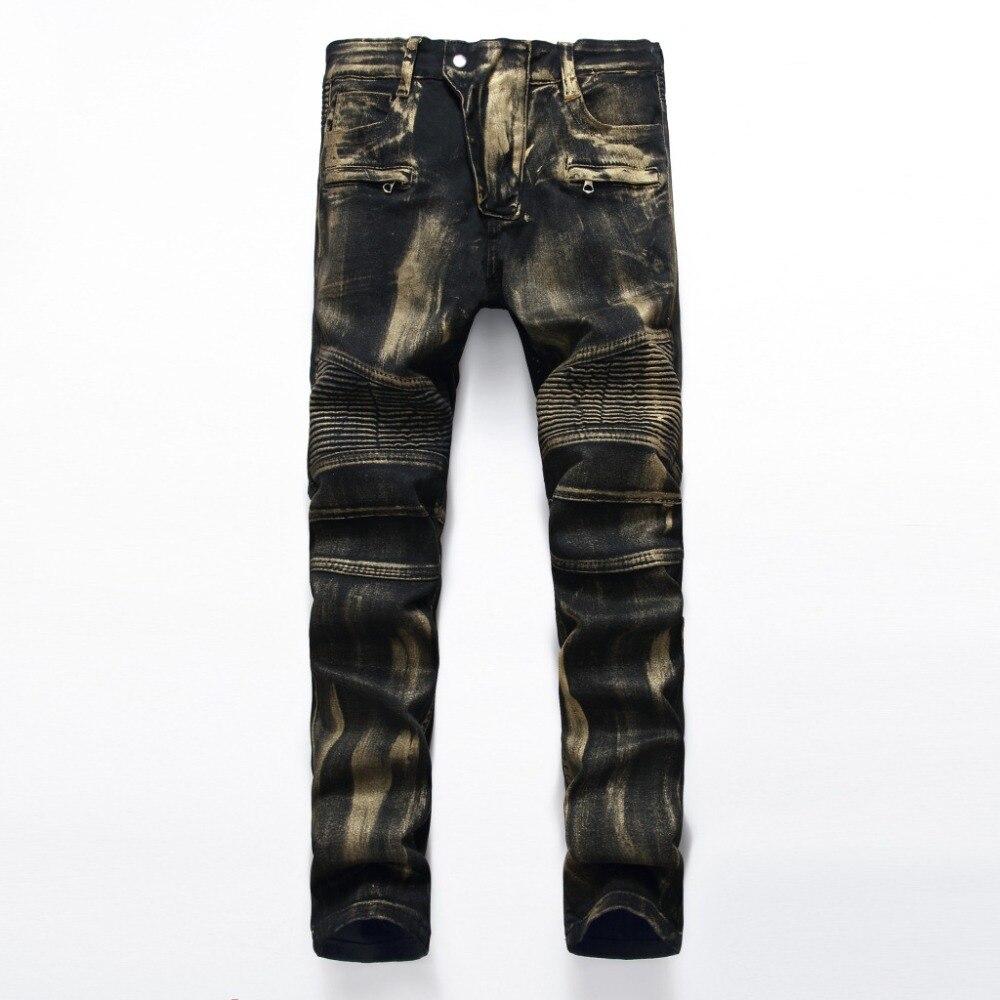 European American Style famous brand men jeans luxury Mens denim trousers Slim Straight black mens gentleman zipper jeans pantsÎäåæäà è àêñåññóàðû<br><br>