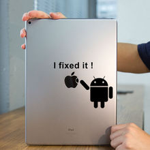 "Andriod Robot Humor Tablet PC Laptop Decal Sticker for iPad 1/2/3/4/Air/mini/Pro7.9"" / 9.7"" / 12.9""  Art Notebook Sticker Skin"