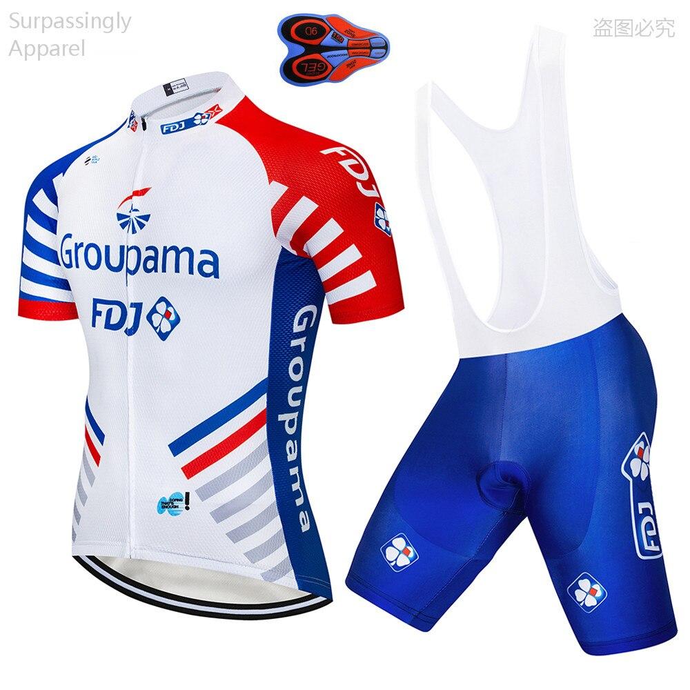 New Blue Men/'s Cycling Jersey Bib Shorts Set Biking Shirt Brace Pants Pad Suits