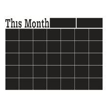 60*43cm Monthly chalkboard Board Blackboard Vinyl Wall Sticker Decor Month Plan Calendar Chalkboard DIY Decal HG-WS-2059