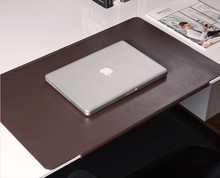 PVC leather mouse pad PC gaming mat with large size 700x400mm, green black brown colors for laptop desktop computer non-slip(China)