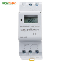 SINOTIMER 220V AC Timer Switch LCD Digital Weeky Programmable Control Power Timer Switch Time Relay