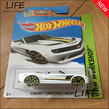 Free Shipping Hot Wheels Camaro Convertible Concept Car Models Metal Diecast Cars Collection Kids Vehicle For Children Juguetes