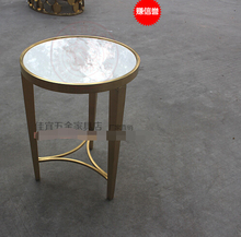 Stainless steel small round tea table.(China)