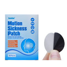 72Pcs Sumifun Anti Motion Sickness Patch Fast Acting Behind Ear Chinese Herbal Plaster Dizziness Health Care Medical D0684(China)