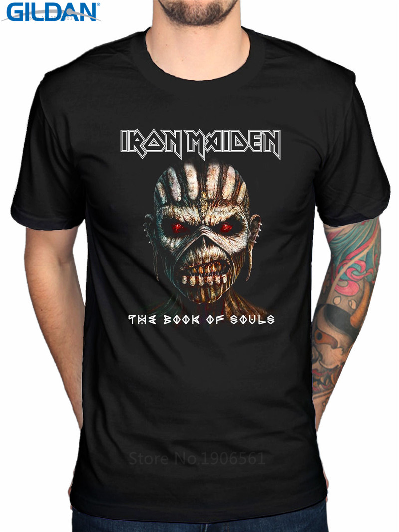 funny t shirt ideas gildan mens o neck design short sleeve iron maiden book of