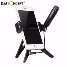 K&F CONCEPT Condenser Microphone Mic Lightweight for iPhone/Android/iPad/iPod Touch Smartphones devices +Cellphone Tripod Gift