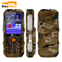 DBEIF D2016 Magic Voice Seniors Key Dual Flashlight Shockproof MP3/MP4 Powerbank Antenna Analog TV Rugged Clamshell Mobile Phone(China)